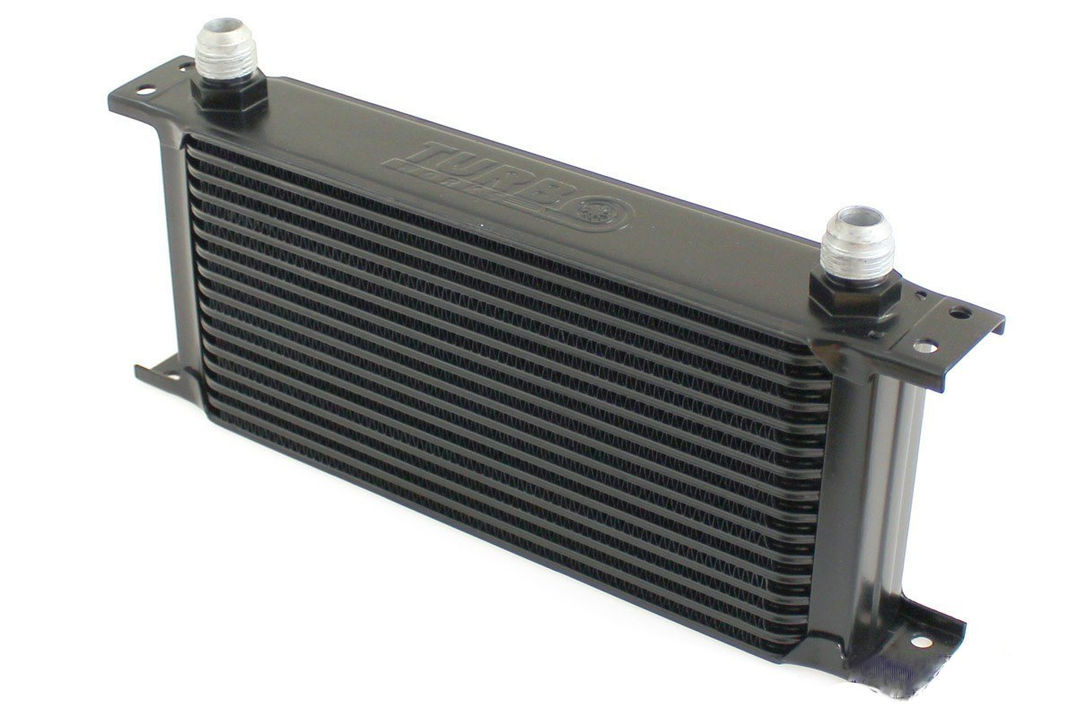 Chłodnica Oleju TurboWorks 16-rzędowa 260x125x50 AN8 Black - GRUBYGARAGE - Sklep Tuningowy
